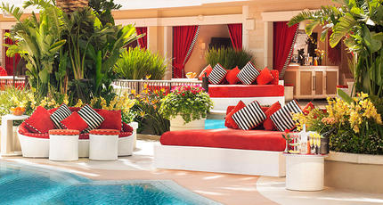 Encore beach club couch